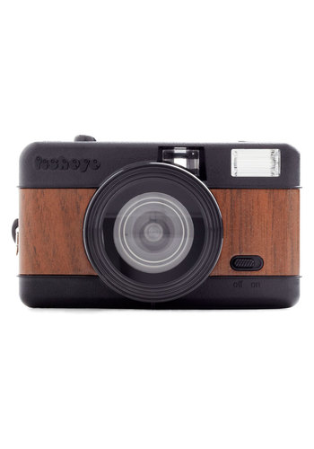 Fisheye One Lomography Camera in Woodgrain by Lomography - Brown, Vintage Inspired, Urban, Mid-Century, Graduation, Travel, Better