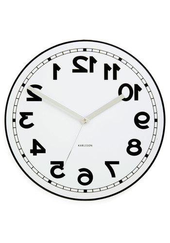 Backwards to the Future Clock by Present Time - White, Black, Dorm Decor, Quirky