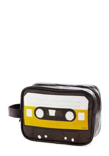 Jet Cassette Travel Case by Present Time - Vintage Inspired, Mod, Music, Orange, Black, White, Travel, Good