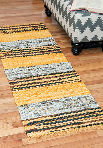 Assort Things Out Rug - 2x6 by Karma Living - Cotton, Multi, Yellow, Vintage Inspired, Folk Art, Rustic