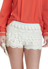 Don't Mind If I Doily Shorts - Cotton, Cream, Blue, Crochet, Pastel