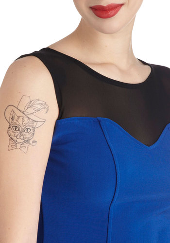 Tat Got Your Tongue? Temporary Tattoos by Gama-Go - Black, Print with Animals, Quirky, Cats