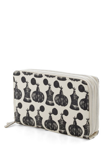 I Eau You Wallet - Cream, Novelty Print, Vintage Inspired, 20s, 30s, 40s, 50s, Black