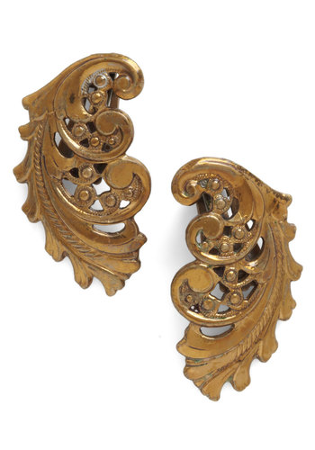 Vintage Ready to Scroll Earrings