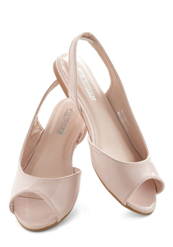 Sticks and Scones Flat - Flat, Tan, Solid, Peep Toe, Slingback, International Designer, Daytime Party