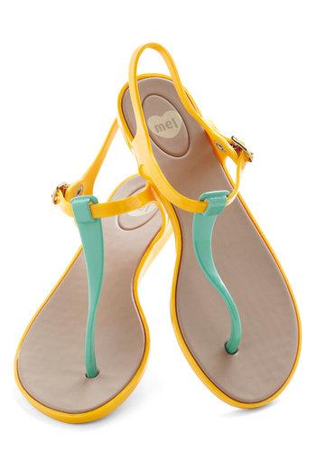 We Really Gel Sandal in Marigold