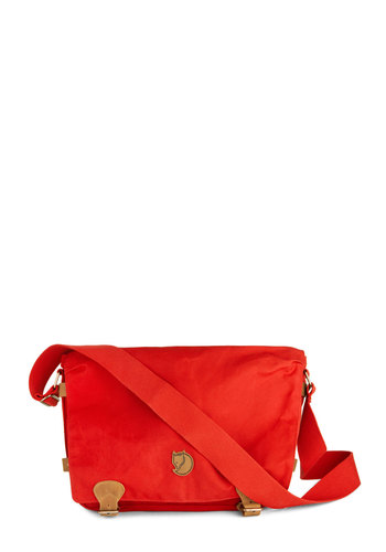 Intrepid Traveler Bag in Red by Fjällräven - Red, Solid, Scholastic/Collegiate, International Designer, Leather, Casual, Travel