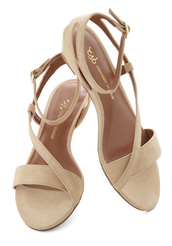 Caramel Swirl Wedge - Tan, Solid, Low, Wedge, International Designer, Daytime Party