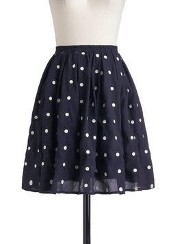 Give It Your Best Dot Skirt