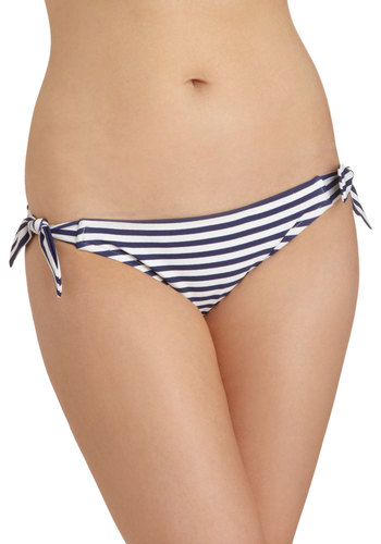 Wave Stunner Swimsuit Bottom - Blue, White, Stripes, Summer, Beach/Resort, Nautical
