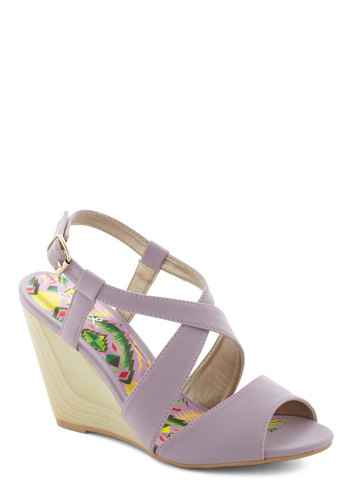 From The Interior Out Sandal - Purple, Daytime Party, Mid, Wedge, Summer