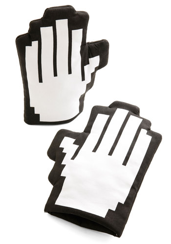 Take a Byte Oven Mitts - Black, White