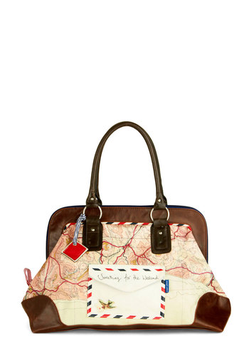 Traveling Translator Tote by Disaster Designs - Brown, Cream, Multi, Casual, Travel, International Designer, Graduation