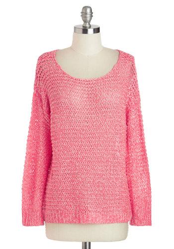 Coral Riff Sweater