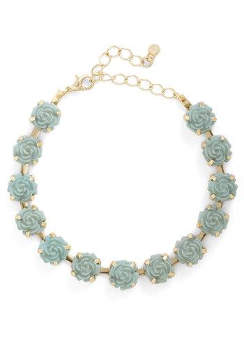 Retro Rosie Bracelet - Mint, Solid, Flower, Pink, Pastel, Variation, 60s, Bridesmaid