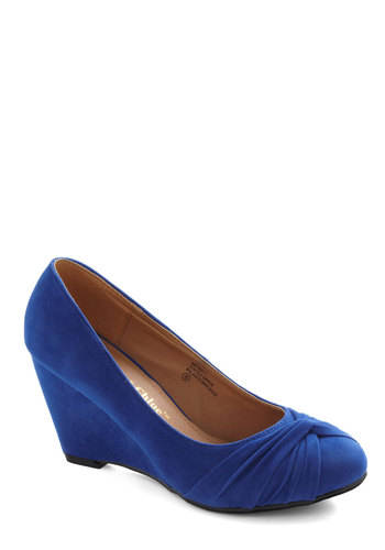 Top Knot Condition Wedge in Blue - Blue, Solid, Work, Mid, Wedge, Variation, Winter