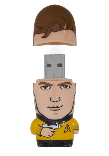 Kirk from Home USB Flash Drive - 8GB - Yellow, Dorm Decor, Travel, Good, Sci-fi, Guys, Top Rated