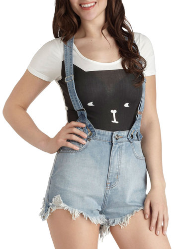 O. M. Jeans Overall Shorts