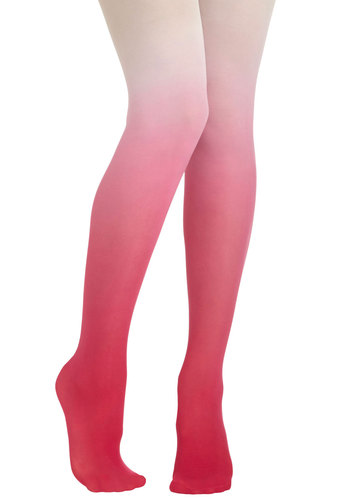 My Way or the Ombre Tights in Pink - Pink, White, Ombre, Party, Girls Night Out, Statement, Variation