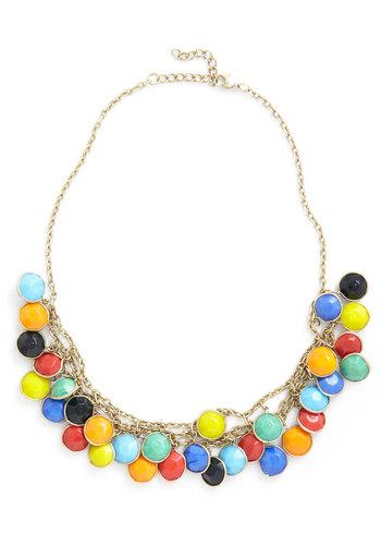 Catch a Glint Necklace - Multi, Gold, Statement