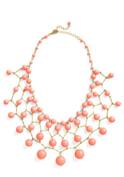 Bob, Bob, Baublin' Along Necklace in Coral