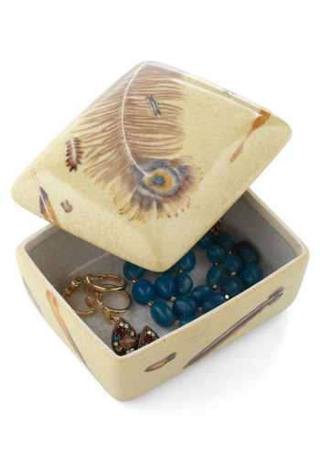 Feather in Your Collection Keepsake Box - Tan