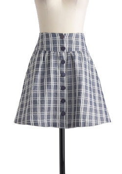 Grid to Go Skirt