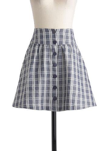 Grid to Go Skirt