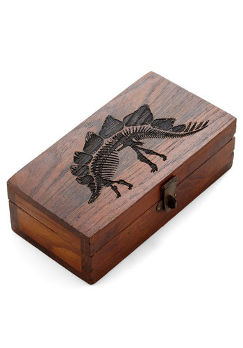 Object d'Artifact Keepsake Box - Brown, Print with Animals