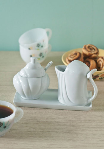 Whale Be There Cream & Sugar Set - White, Nautical, Daytime Party