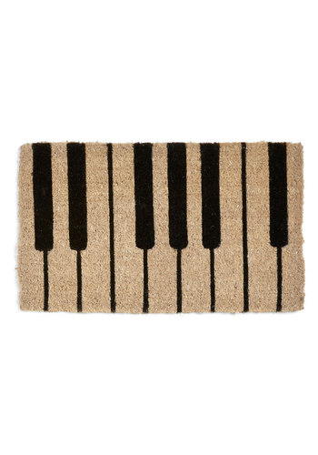 Keys to the Kingdom Doormat - Black, Music, Tan, Better