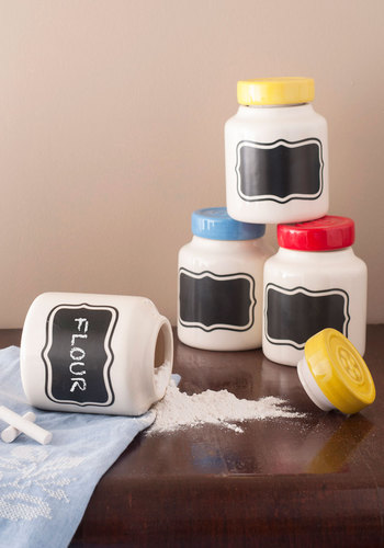 Culinary Arts and Crafts Container Set - Multi, Vintage Inspired, Dorm Decor, Handmade & DIY