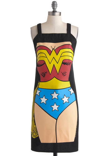 Supper Hero Apron - Multi, Statement, Good, Halloween, Summer, Gals, Quirky