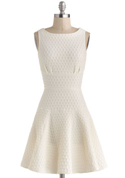 The Perfect Thatch Dress in Cream