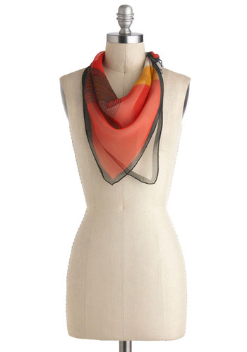 Vintage Abstract Heart Scarf