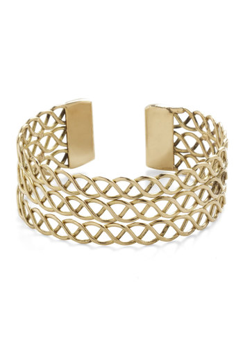 Hot on Your Helix Bracelet - Gold, Solid, Cutout