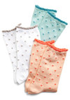 Decibel Points Sock Set - Orange, Green, White, Grey, Polka Dots, Trim