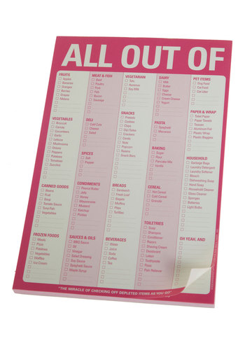 All Out Of Notepad - Pink, Best Seller, Best Seller, Good, Under $20, 4th of July Sale