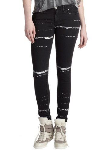 In the Name of Art Jeans by Levi's - Black, Casual, Skinny, Denim, Print, Pockets, Urban