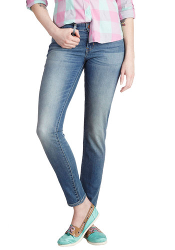 Hopelessly Devoted to Blue Jeans by Levi's - Blue, Pockets, Casual, Denim, Skinny, Solid, Cotton