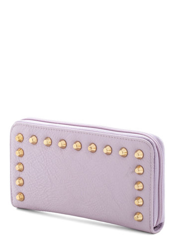 Finance and Dandy Wallet - Purple, Solid, Studs, Pastel