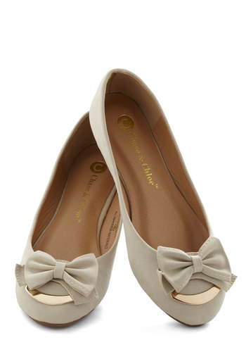 Put a Bow on It Flat - Tan, Solid, Bows, Flat, Gold, Work, Casual, Daytime Party, Faux Leather