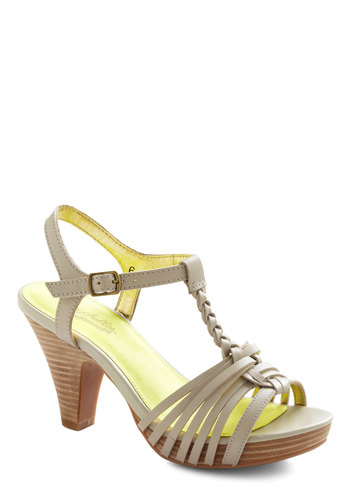 Finders Keepers Heel by Seychelles - White, Solid, Braided, Mid, Leather, Casual, Daytime Party, Beach/Resort