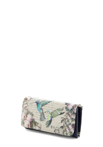 Lunch on the Fly Wallet by Disaster Designs - International Designer, Faux Leather, Cream, Multi, Print with Animals, Fairytale