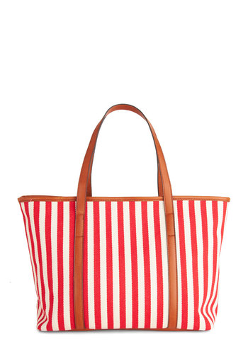 Yacht to Sea Bag - Red, Nautical, Stripes, Beach/Resort, Summer, Travel, White