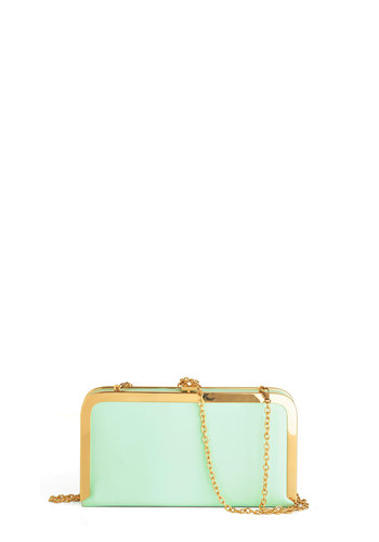 Best in Clasp Bag - Mint, Solid, Formal, Pastel
