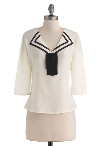 Sailor's Knot Top - Nautical, Sheer, Mid-length, Casual, Exclusives