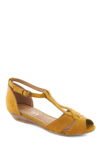 Stylish Sidekick Wedge in Yellow