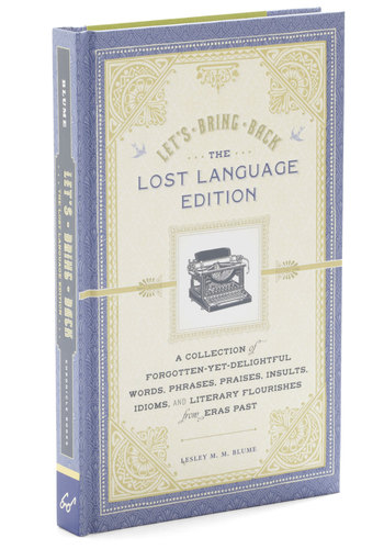 Let's Bring Back Lost Language Edition by Chronicle Books - Beach/Resort, Good, Top Rated