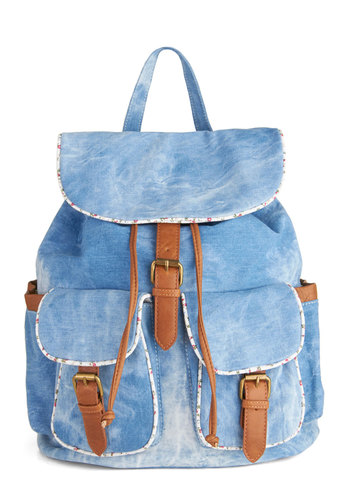 Pack Up a Picnic Backpack - Blue, Multi, Solid, Buckles, Trim, Scholastic/Collegiate, 90s, Travel, Summer